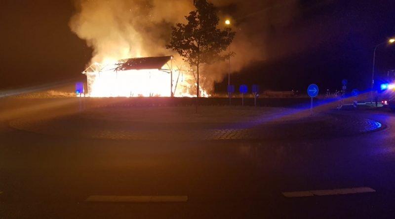 Schophoven (Überörtlich) #BD3# Feldscheunenbrand