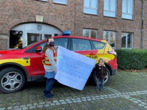 Spende für die Kinderfeuerwehr der Gemeinde Niederzier